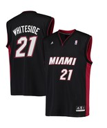 "ADIDAS MIAMI HEAT NBA ""WHITESIDE 21"" BASKETBALL JERSEY SIZE L NEW WITH T... - $39.15"