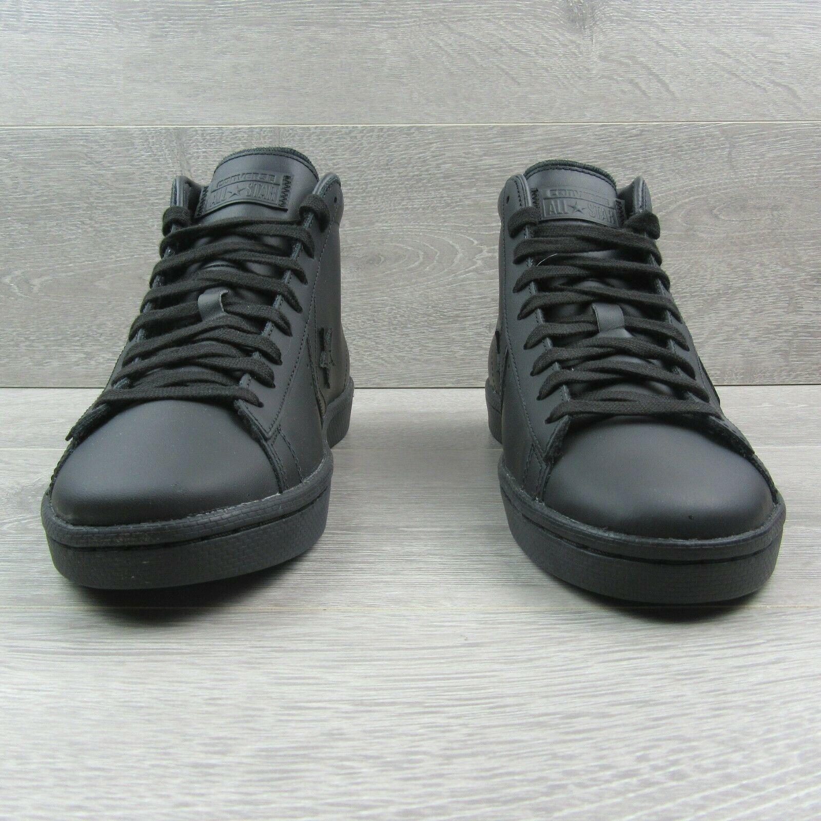 Converse PL 76 Mid Leather Top Size 11 Mens Triple Black Lunarlon 155334C New