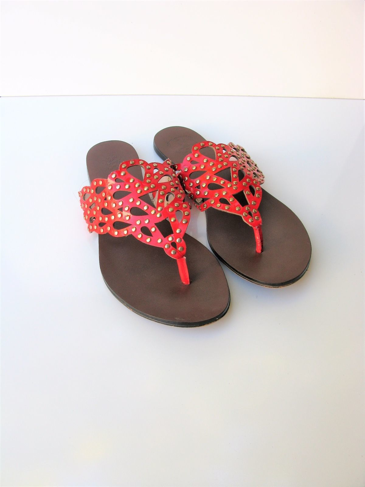 Sandals Flip Flops Vince Camuto Elian Leather Studded Thong Sandal 8/8.5 $98