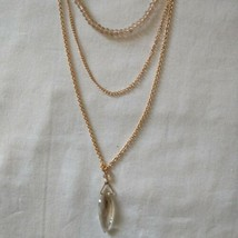 Avon NWT Multi Strand Necklace Layered Delicate Dainty Long Gold Tone Beaded - $16.99