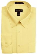 Alberto Danelli Men's Long Sleeve Button Down Dress Shirt Canary Large 33/34