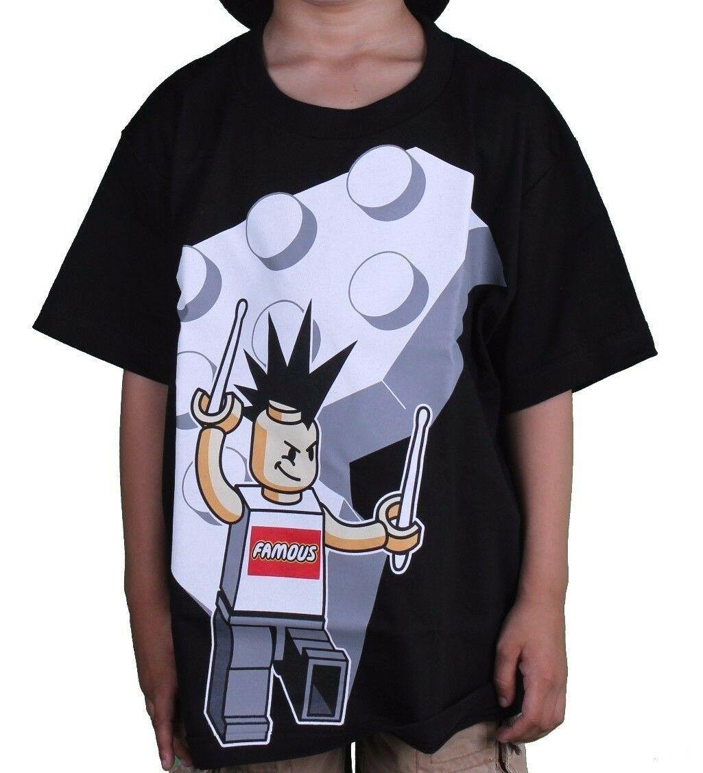 Famous Stars & Straps Bloc Homme Travis Barker Drummer Garçons Jeunesse T-Shirt