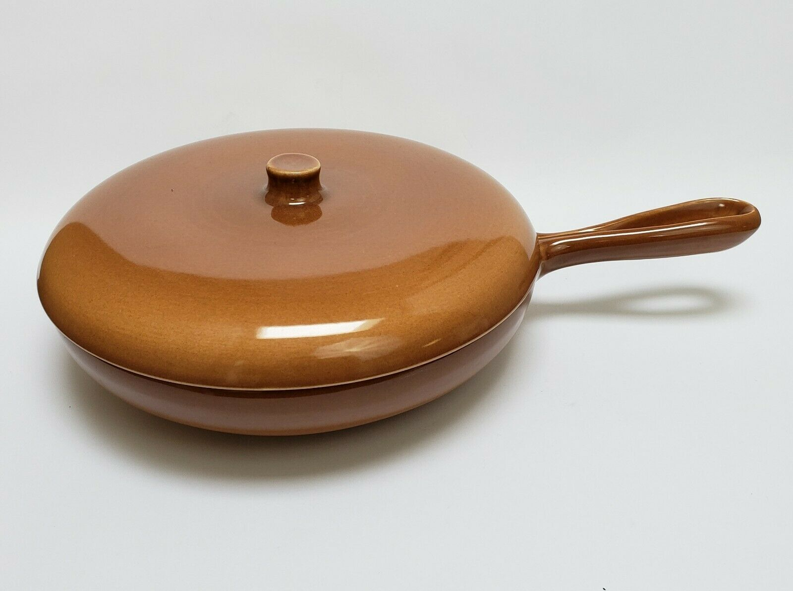 Primary image for Russel Wright Iroquois Casual Cookware Skillet Fry Sauce Pan Ripe Apricot USA