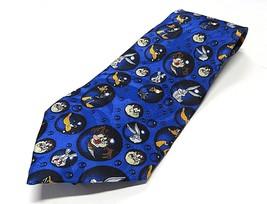 1998 Looney Tunes in Bubbles Neck Tie 100% Silk Made in Korea - $24.70