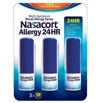 Nasacort Allergie 24 Heures Antigoutte Spray Nasal 3 Paquet de 120 Sprays - $49.06