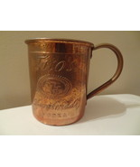 TITO'S  HANDMADE VODKA  COPPER ADVERTISING COFFEE CUP MOSCOW MULE AUSTIN... - $19.99