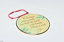 Hallmark Cards Christmas Tree Ornament 1986 Round Vintage Holiday Collectibles - $8.51