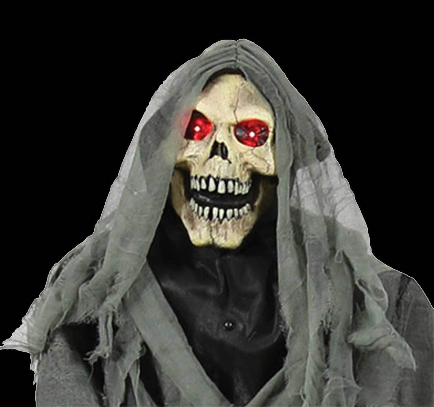 Animated Life Size GRAVEYARD REAPER COFFIN Talking Haunted House Horror-PROP SET