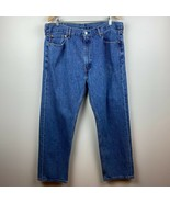 Levi's 505 Jeans 40 X 30 Mens Straight Leg Denim Blue Medium Wash 5 Pocket - $24.01