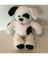 "Build A Bear Workshop BABW 15"" Puppy Dog Plush White and Black Spots Sou... - $12.99"