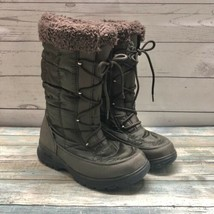 KAMIK Women's Sz 6 Waterproof Impermeable Winter Boots Green Brown Lace Up - $42.06