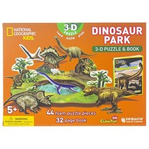 National Geographic - Dinosaur Park 3-D Puzzle & Book [Paperback] Sequoi... - $19.99