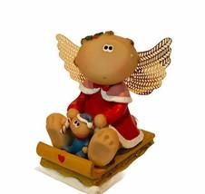 Kirks Kritter critter angel cheek figurine ornament Russ Berrie Christma... - $18.33