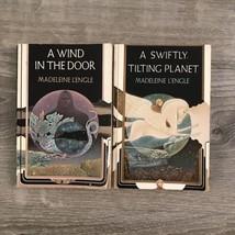 Lot of 2 WRINKLE IN TIME SERIES: A WIND IN DOOR & SWIFTLY TILT Madeleine... - $9.99