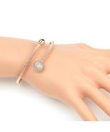 UE-Stylish Designer Rose Tone Wrap Bangle Bracelet With Swarovski Style ... - $19.99