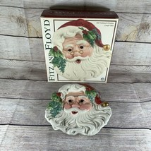 Fitz and Floyd Old Fashioned Christmas Santa Canape Cookie Holiday Servi... - $19.79