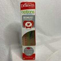 Dr Browns 8 oz Options Natural Flow Bottle Bonus Prevent Pacifier Special Edit - $14.85