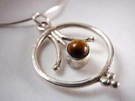 TIGERS EYE 925 Sterling Silver Necklace Corona Sun Jewelry - $21.73