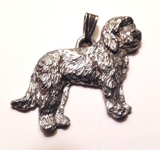 Goldendoodle Pendant Dog Harris Fine Pewter Made in USA jewelry - $10.99