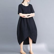 Maternity Dress O Neck Loose All Match Chic Breathable Mom Dress image 5