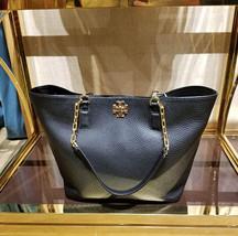 Tory Burch Tote Mercer Black Pebble Leather Shoulder Bag NWT - $271.15