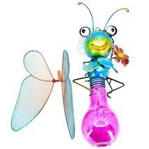 Regal Art & Gift Metal & Glass Butterfly Hanging Solar Light Garden Decor image 5