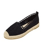 jenn ardor Womens Espadrille Sneakers Hollow Canvas Casual Flats Classic... - $18.85