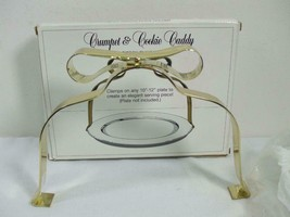 """Crumpet & Cookie Caddy Metal Ribbon Gold Metal Clamp for 10"""" to12"""" Plate... - $9.85"""