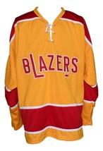 Any Name Number Philadelphia Blazers Retro Hockey Jersey Yellow Parent Any Size image 1
