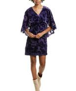 Trina Turk Women Velvety Shell Burnout Cape Dress Purple Size 0 Nwt - £25.07 GBP