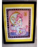 Tina Norton Pink Poodle 2002 Black Framed Matted Print Mirror, Mirror Pu... - $34.95