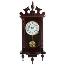 Bedford Clock Collection Classic 31 Inch Chiming Pendulum Wall Clock in ... - $139.36