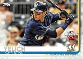 2019 Topps Opening Day #39 Christian Yelich > Milwaukee Brewers - $1.15