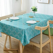 Lamberia Tablecloth Waterproof Spillproof Polyester Fabric Table Cover f... - $31.30