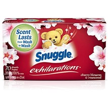 Snuggle Exhilarations Fabric Softener Dryer Sheets, Cherry Blossom & Ros... - $6.84