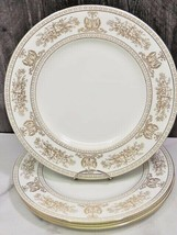 """Set of 4 Wedgwood Gold Columbia White10.75"""" Dinner Plates - $108.90"""