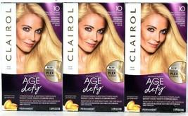 3 Boxes Clairol Age Defy 2X Repair Plex 10 Extra Light Blonde Permanent ... - $26.99