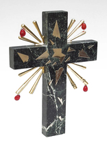 "Salvador Dali ""Crucifixion"" 1980 - Rare Light Grey Marble Sculpture - Ga... - $2,900.00"