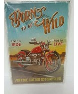 Born to be Wild Motorcycle Metal Sign 12 x 17 Man Cave Garage Workshop New - $11.60
