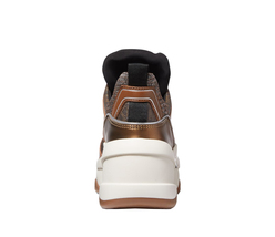 Michael Kors Women's Olympia Trainer Glitter Chain Mesh Bronze Sneaker Shoes image 4