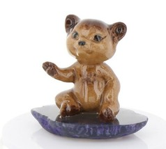 Hagen Renaker Miniature Baby Bear Cub Sitting on Base Stepping Stones #2761