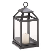 Outdoor Lantern Candle, Contemporary Rustic Garden Hanging Metal Candle ... - $31.89