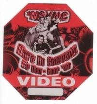 N SYNC n sync backstage Satin Cloth PASS tour collectible VIDEO - $11.38