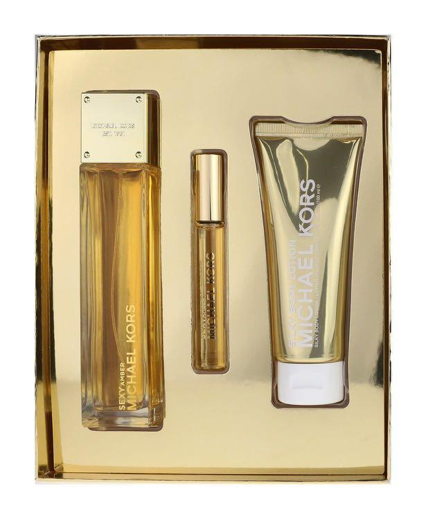 Michael Kors Sexy Amber 3.4 Oz Eau De Parfum Spray Gift Set