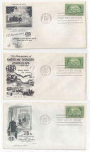 987 American Bankers 3 First Day Cover Art Craft Fleetwood Artmaster Cac... - $5.50