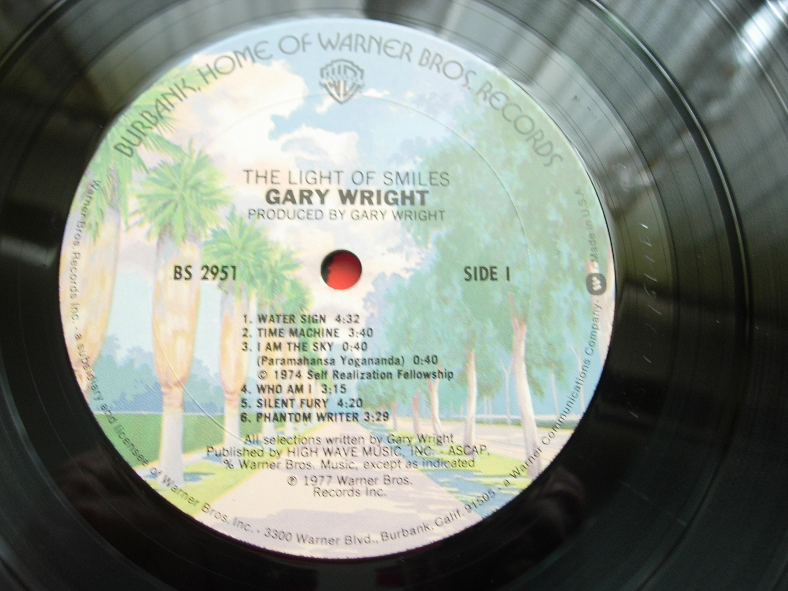 Gary Wright - The Light of Smiles - Warner Bros. - BS 2951