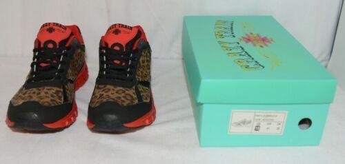 Crazy Train RUNWILD14 Black Red Cheetah Sneakers Size Ten