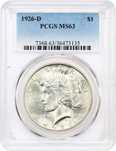 1926-D $1 PCGS MS63 - Peace Silver Dollar - $266.75