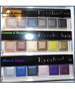 NEW CITY COLOR Assorted Eyeshadow Palette Greens, Blues, Greys, Browns, ... - $4.95