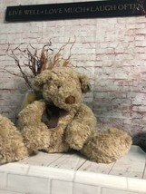 "Russ Berrie Large Plush Teddy Higgins 14"" Sitting  Soft & Cuddley NEW - $24.70"